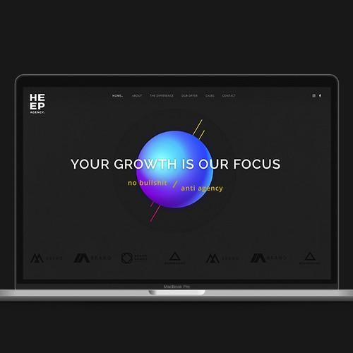 Bold Web site concept