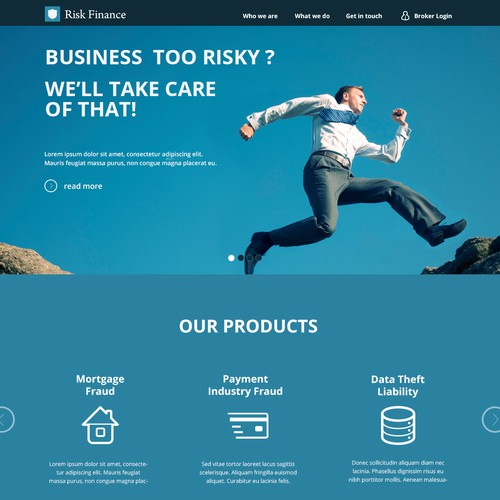 New website design wanted for www.riskfinance.com