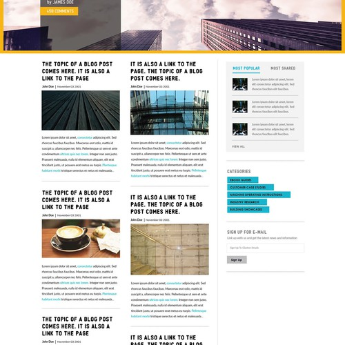 Create glass industry article platform