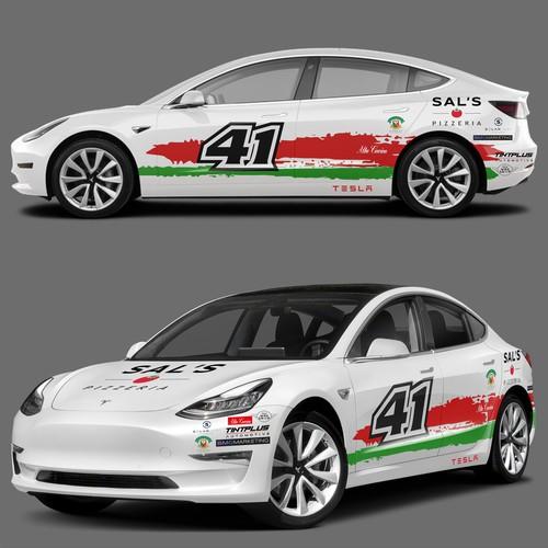 Tesla Car Wrap Project