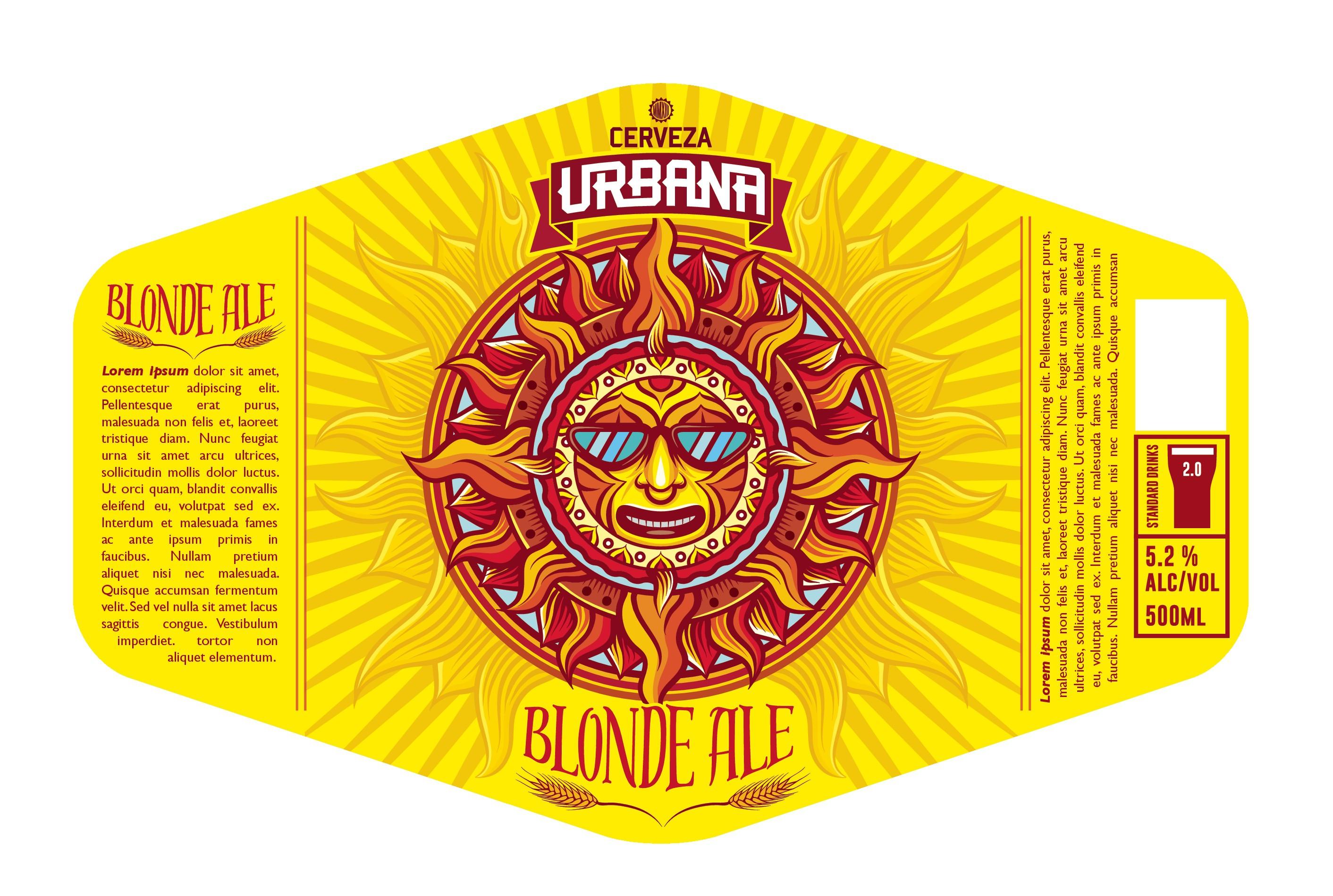 Urbana Beer Bottle Labels