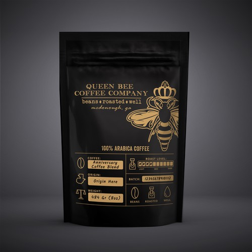 handcrafted, small batch specialty coffee package design