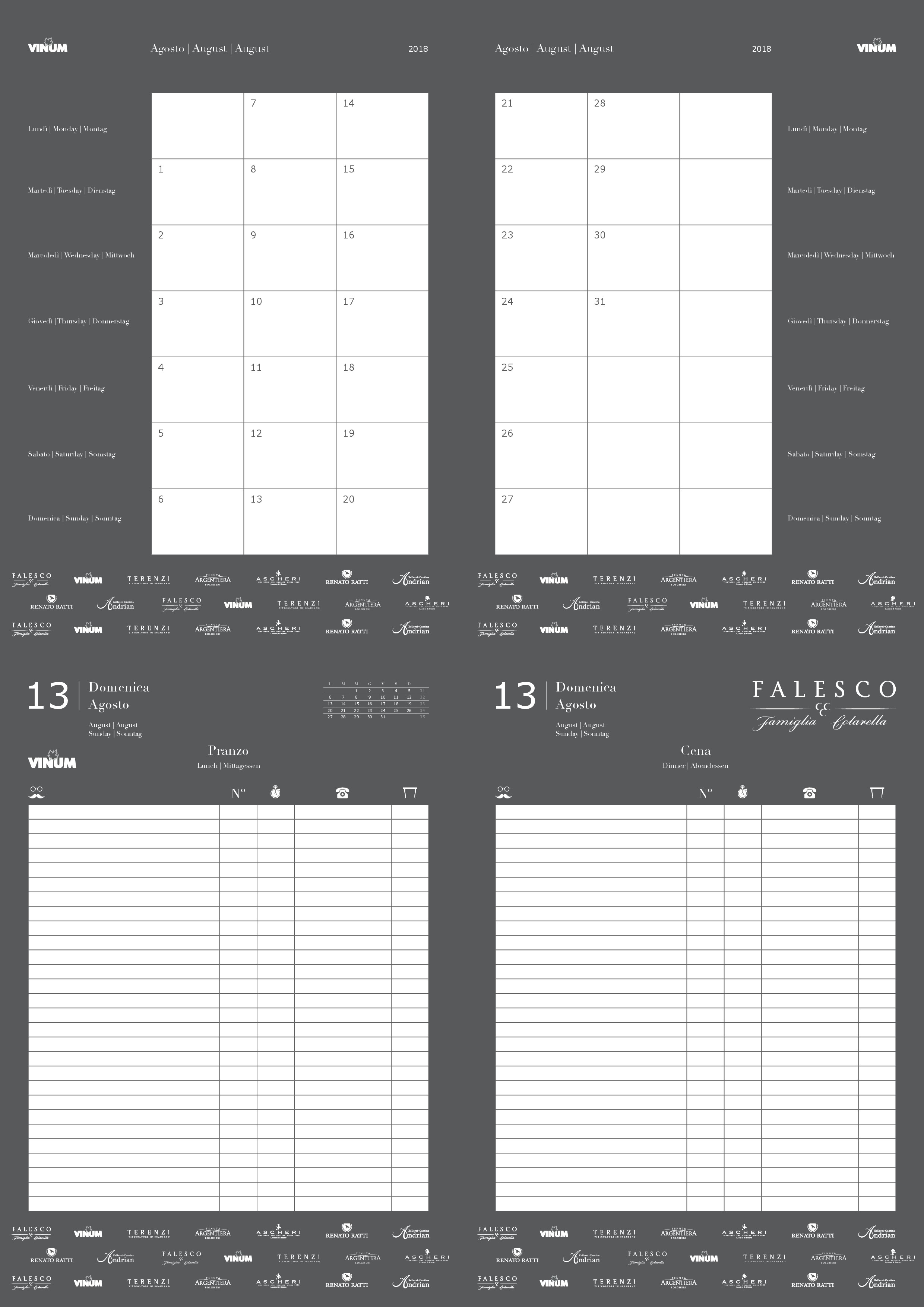 EINFACH/SCHNELL Brauchen für ein Gastro-Reservierungsbuch die Innenseiten als INDD - Jahreskalender