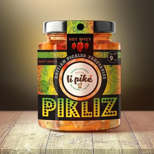 Pikliz Jar Labels