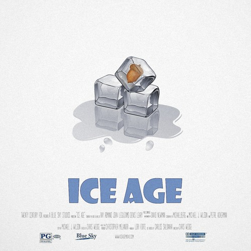 "80s revision of ""ice age"" poster"