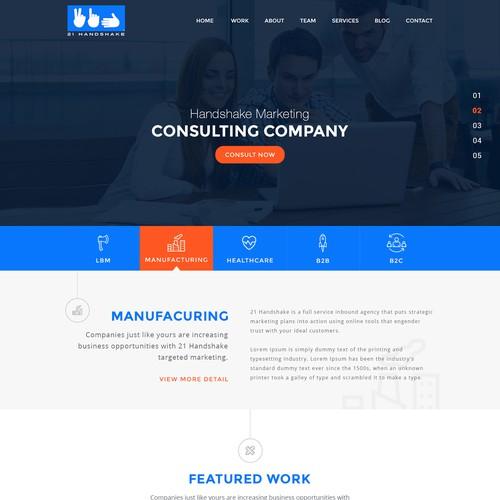 21 Handshake Website Design