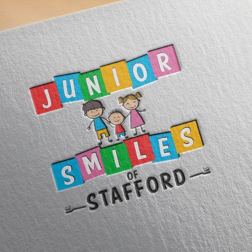 Playful logo for pediatric dentistry