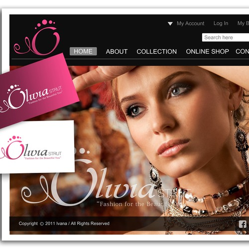 Logo - New Fashion Accessories Online Business OLIVIA STRUT