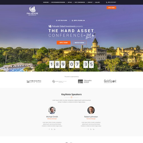Modern Palisade Hard Asset Conference Website