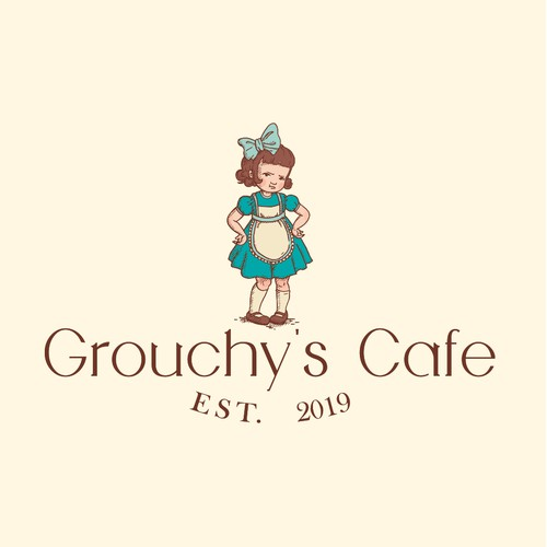 Logo vintage for Grouchy's Cafe