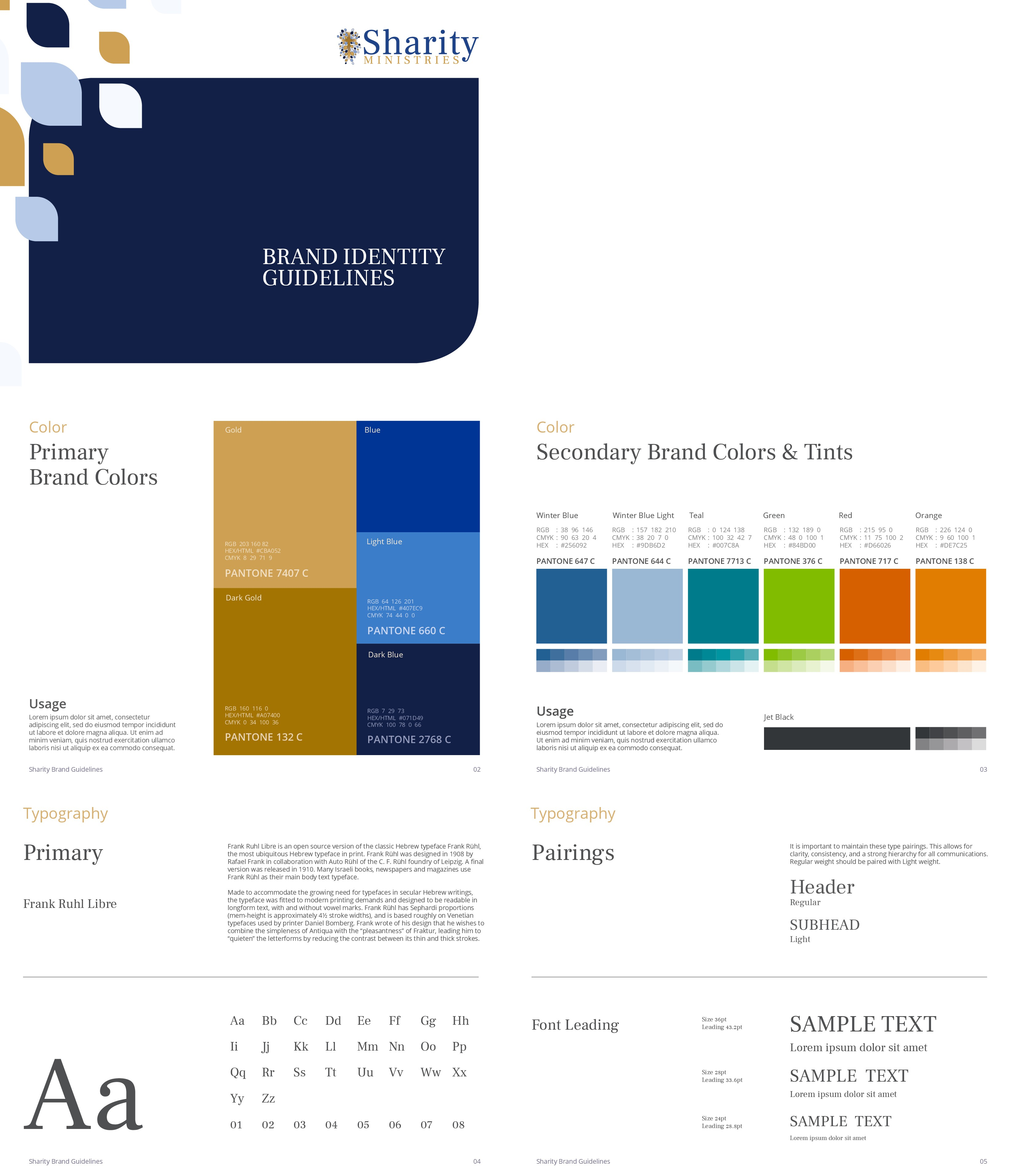 MOCKUP: Sharity Ministries Brand Guidelines