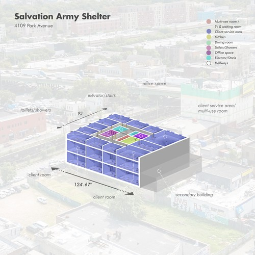 3D Diagram - Army Shelter, NY