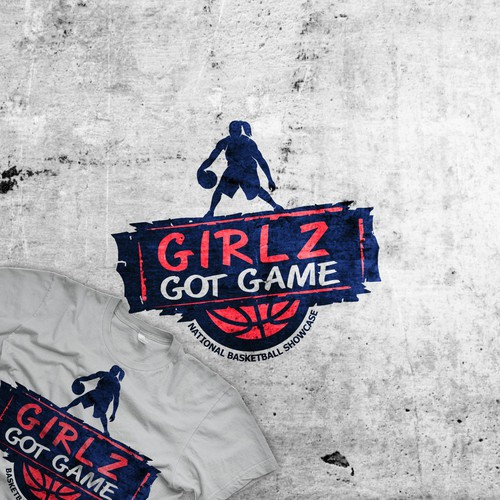 Logo for girls basketball tournament
