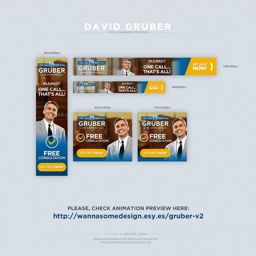 Banners for Gruber