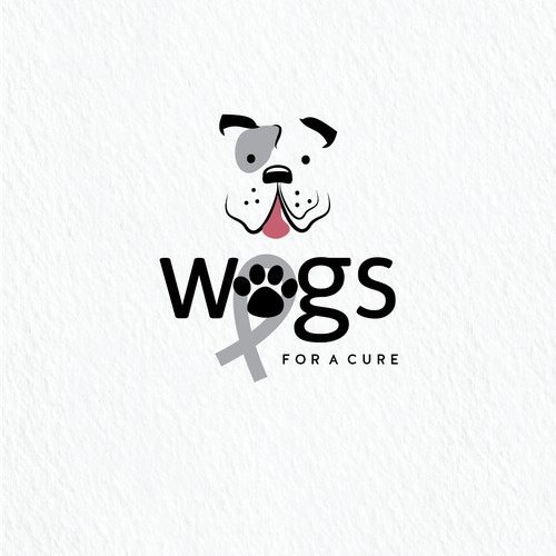 Logo for non-profit to support people who have dogs with cancer.