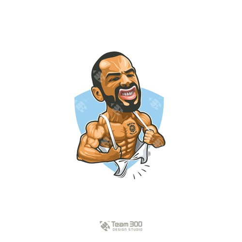 Famous Fitness Model Caricature.