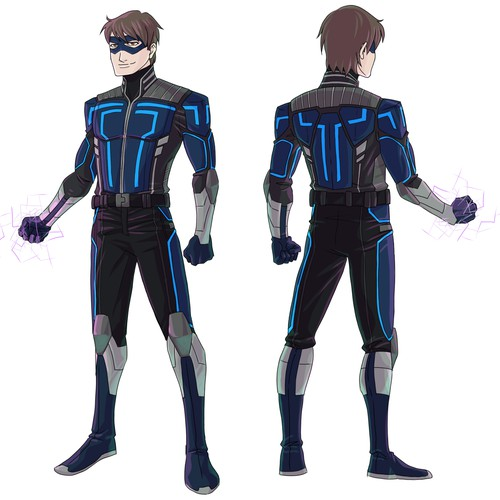 Superhero suit design