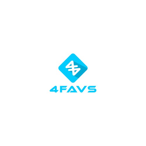 Simple and distinct mobile app logo for 4Favs