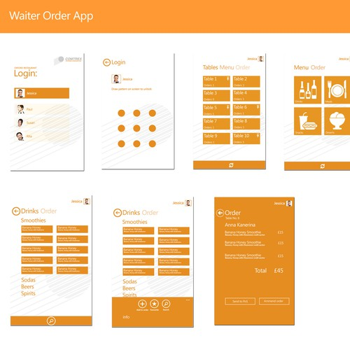 Window mobile app for restaurant software