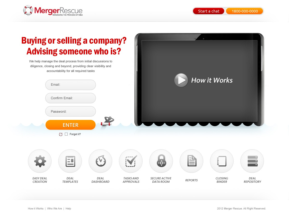 Merger Rescue needs a new website design