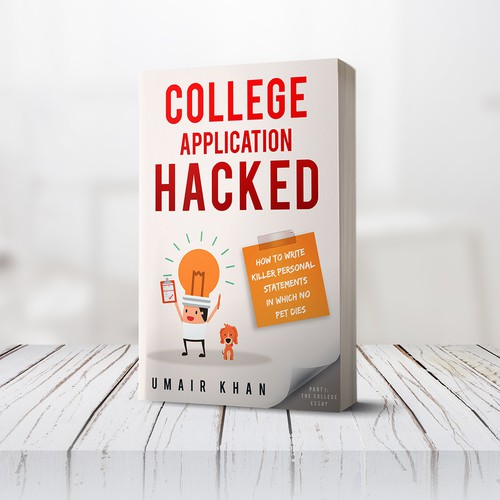Book cover design - College Application Hacked