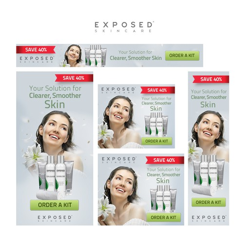 Exposed Skincare banner ads