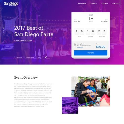 Design a sleek event details page for web