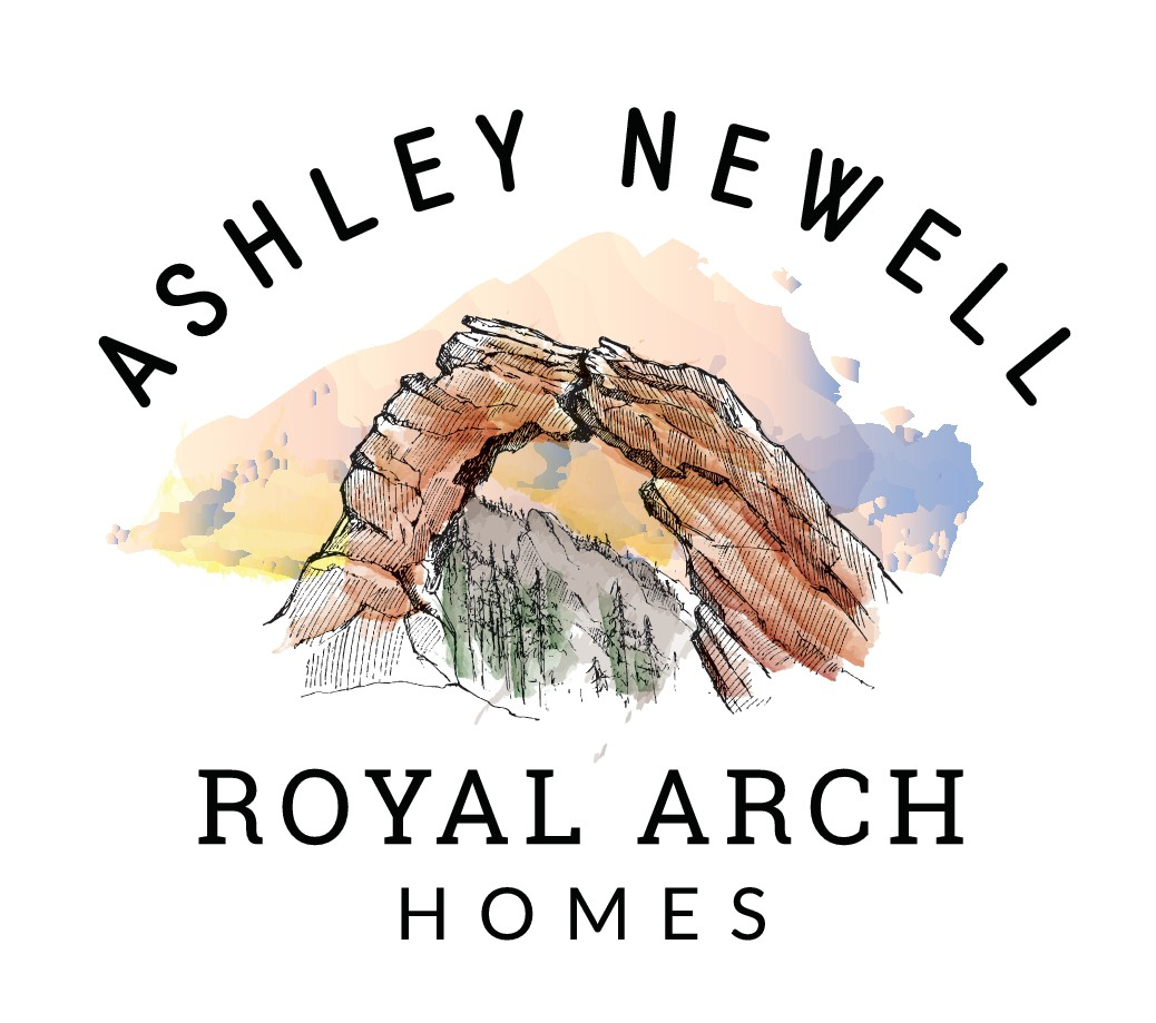 Draw a beautiful natural arch and logo for Royal Arch Homes