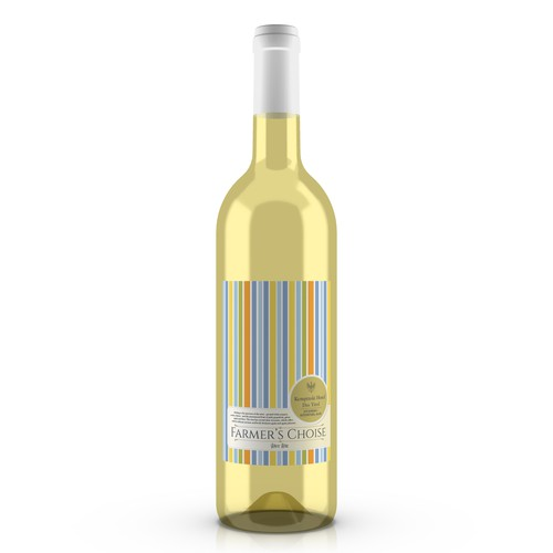 Design a unique label for white wine bottle fitting for a luxury hotel