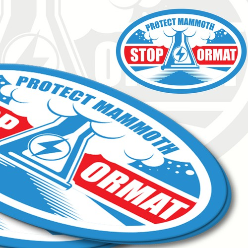 t Mammoth Lakes - Fighting Water Pollution (Sticker)