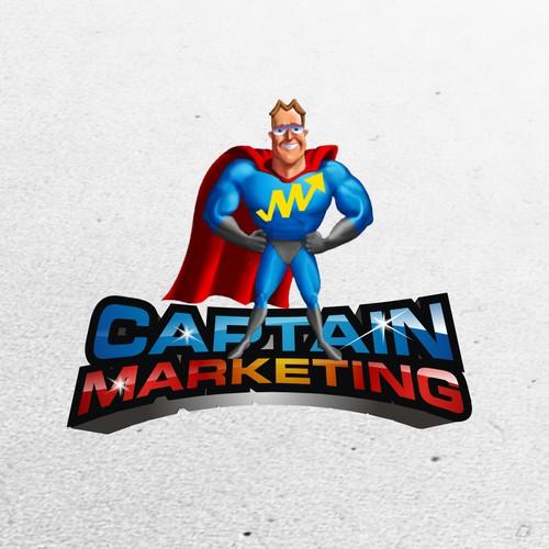 Create A Winning Design for Captain Marketing's Logo