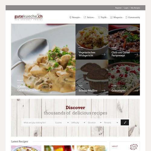 Design for a culinary website