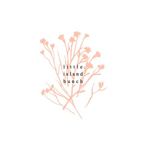 Logo concept for flower shop Little island bunch.