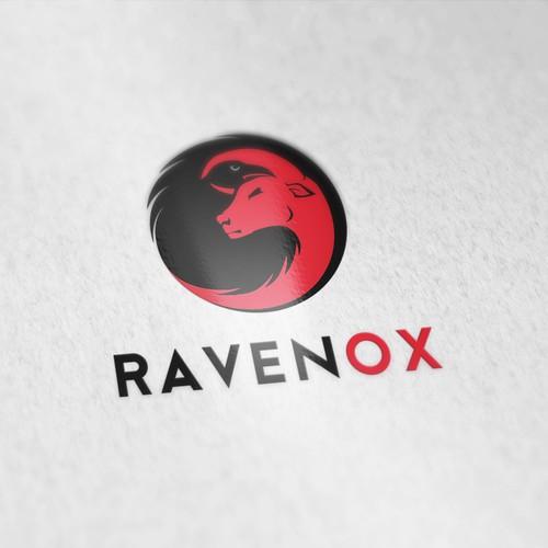 Modern logo for company called Ravenox