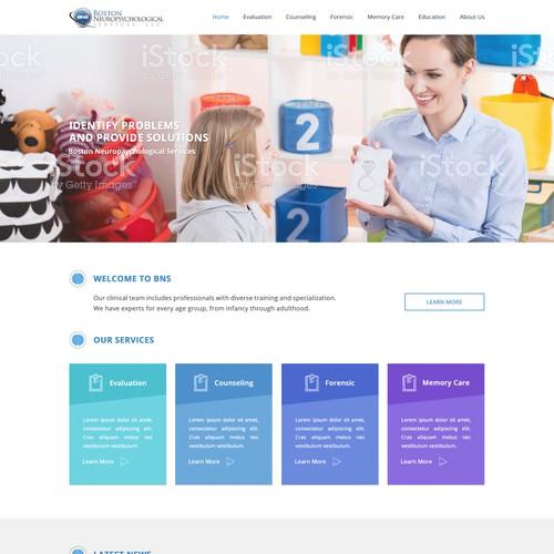 Neuropsychological clinic website design