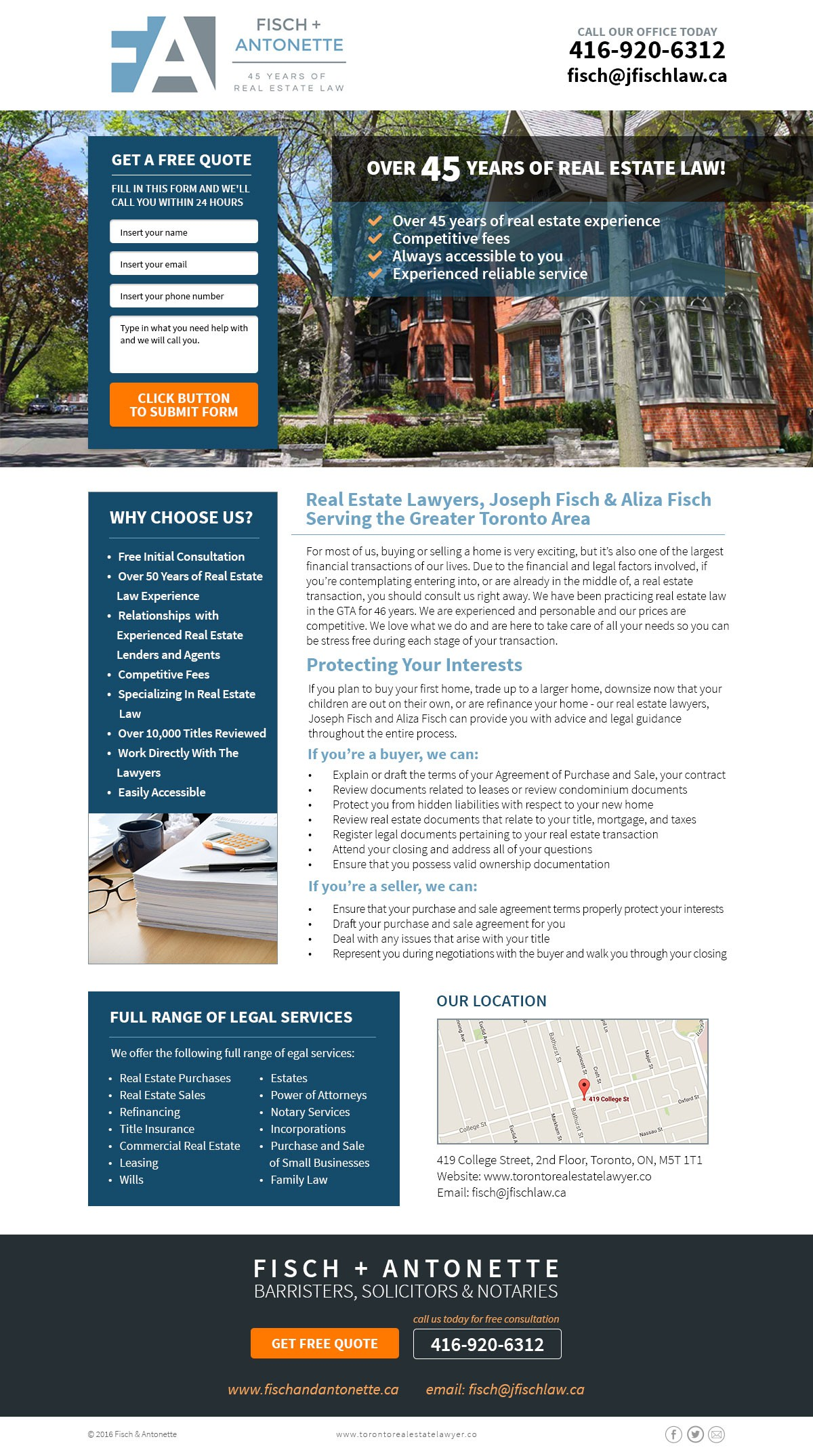 GUARANTEED: Boutique real estate firm needs awesome landing page for people looking to buy and sell homes!