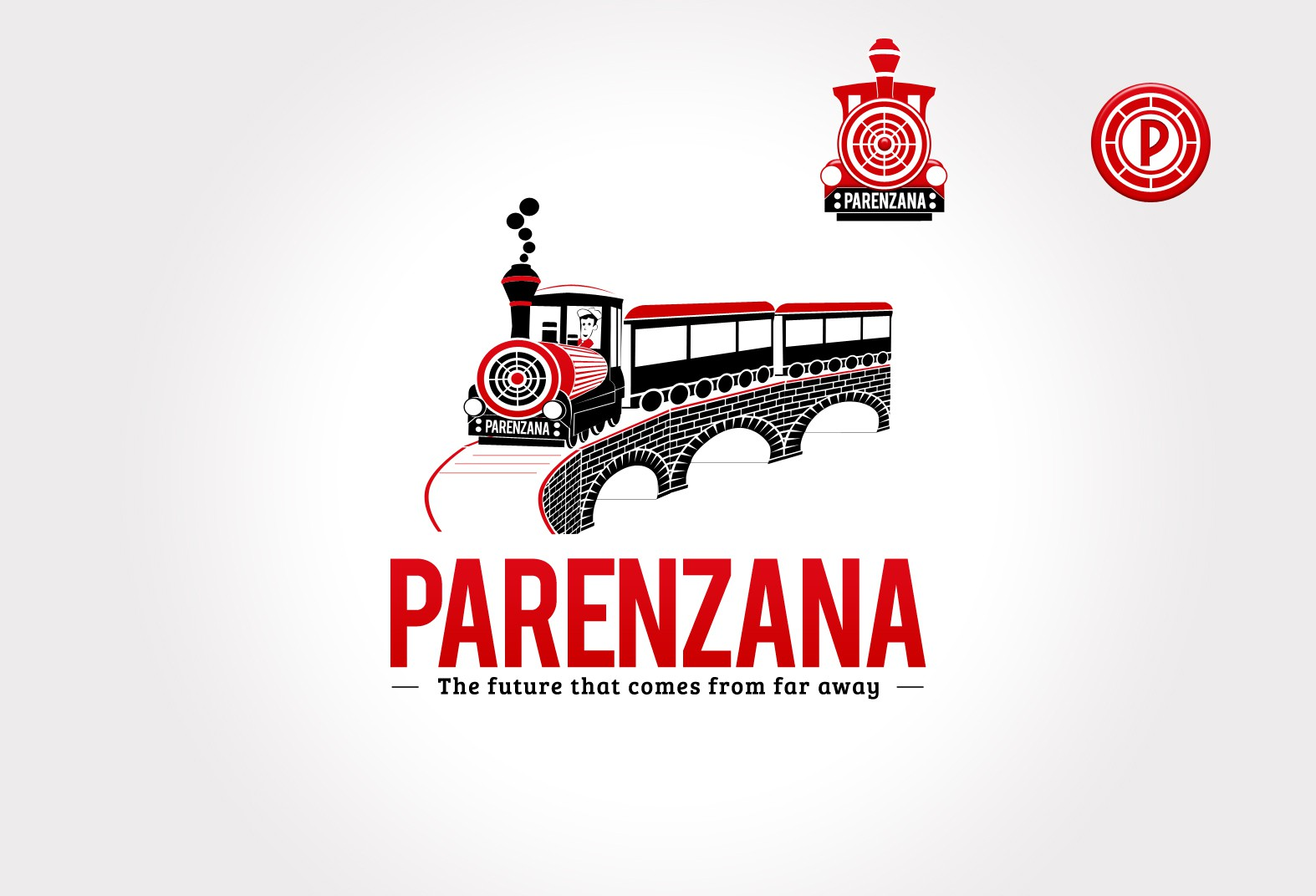 Create a logo for the project Parenzana Train-The future that comes from far away!