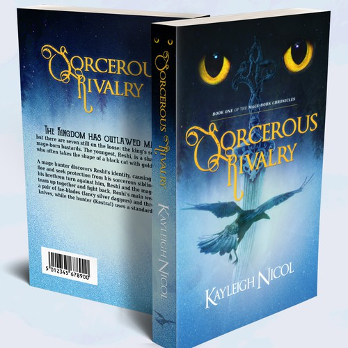 """""""Sorcerous Rivalry"""" book cover"""