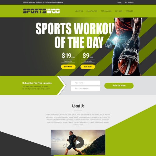 Sports Video Training Website
