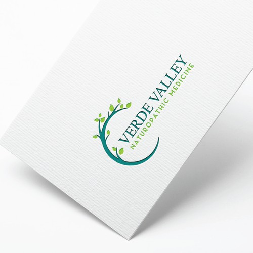 Welcoming nature-inspired logo for a natural medicine practice in Sedona, Arizona