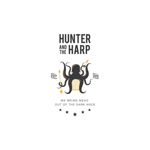 Unique logo for honey-wine making company.