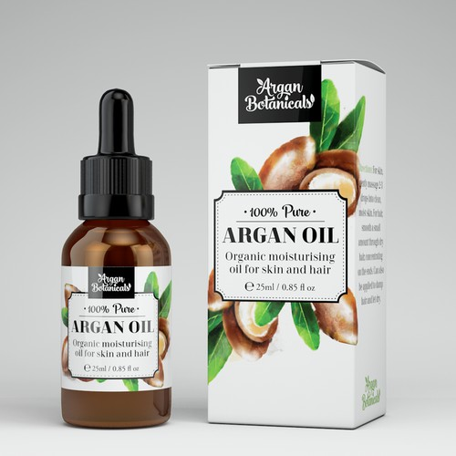 argan oil packaging