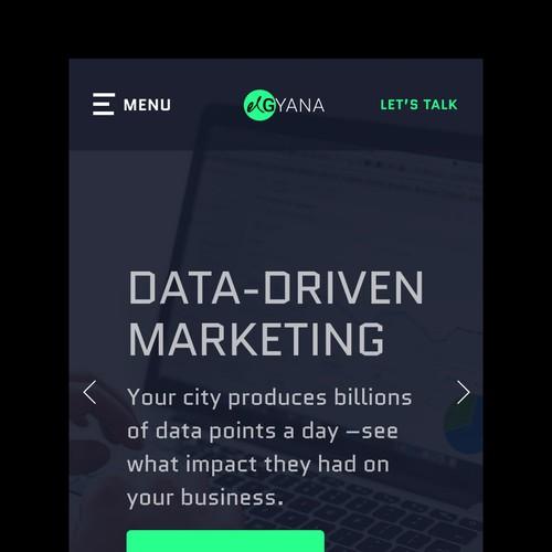 Mobile web page design concept