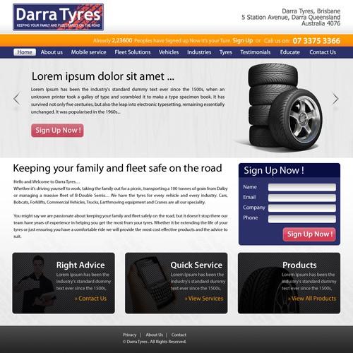 Darra Tyres  needs a new website design