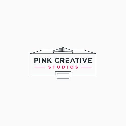 Pink Creative Studio logo concept