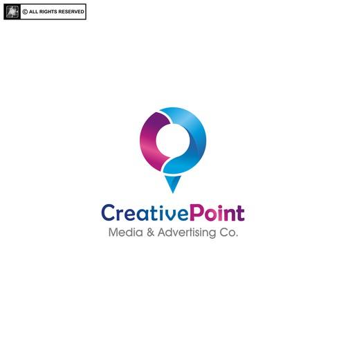 logo for creative point media & advertising co.