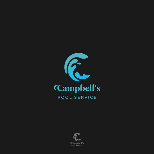 Logo concept for Campbell's Pool Service