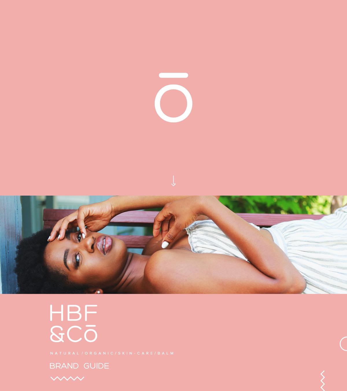 HBF&Co brand guide design.
