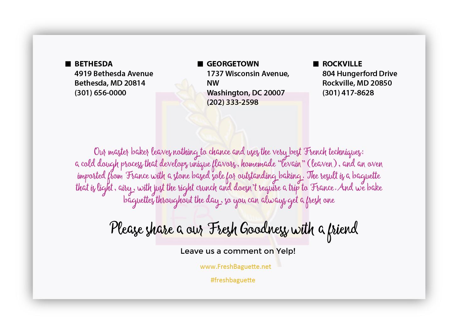 Fresh Baguette flyer and social media banner design