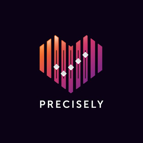 Logo design proposal for Precisely, a dating application.